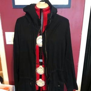 Long Hooded Utility Jacket